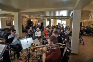 LV Philharmonic-local musicians perform at Nevada HAND's Harmon Pines Sr Apts 1