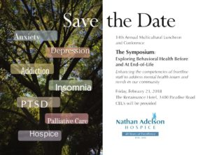"Nathan Adelson Hospice, announced that David Feldman, Ph.D., will present the Symposium: ""Exploring Behavioral Health Before and At End-Of-Life Care."""