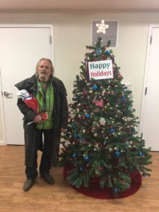 Residents of Carson City's Richards Crossing, a housing, facility for veterans and homeless, were surprised by the generous holiday gifts given to them.
