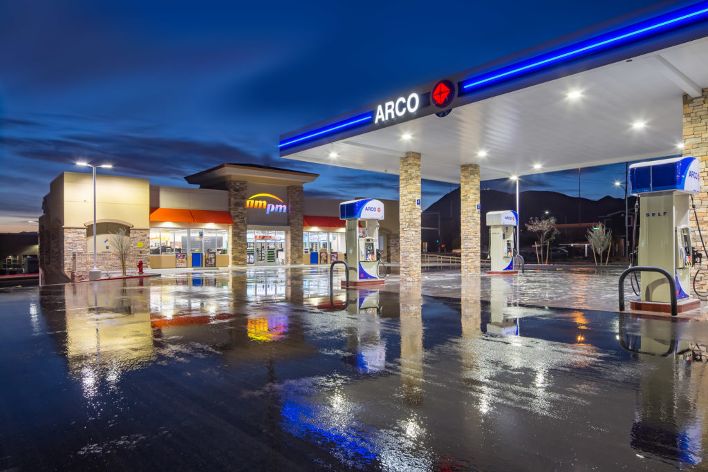 dc building group completes am  pm convenience store and arco gas station in henderson