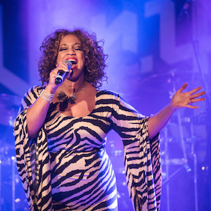 """Jazz singer-songwriter Michelle Johnson, Las Vegas' """"First Lady of Jazz,"""" presents """"Spotlight - The Music of Icons,"""" a one-woman musical show featuring hit songs of iconic artists she has worked with."""