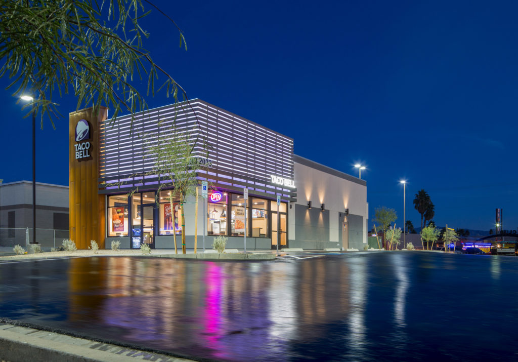 Dc Building Group Announces Completion Of First Taco Bell In Downtown Las Vegas