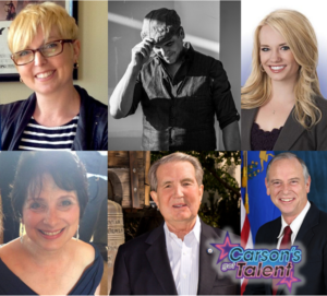 Carson's Got Talent, an evening extravaganza of regional talent at the Bob Boldrick Theater, April 14 at 6:30 p.m., announced its panel of celebrity judges this week.