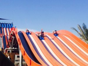 As part of its Cowabunga Bay Cares program, Cowabunga Bay Water Park invited St. Jude's Ranch for Children to bring an estimated 75 brothers and sisters together after being separated in the Southern Nevada foster care system.