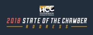 The Henderson Chamber of Commerce will host its annual State of the Chamber Address from 5 to 8 p.m. Thursday, Sept. 6, at the Hilton at Lake Las Vegas.