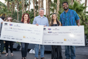 Lake Las Vegas gave $20,000 to Cure 4 The Kids Foundation, the Ogden Family Foundation, Friends for Las Vegas Police K9 and the Henderson Community Foundation K9 Division.