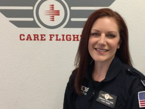 The REMSA and Care Flight announce the promotion of Shannon Petty, RN, CRFN, to the position of Care Flight's base supervisor.