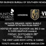 The BBB of Southern Nevada Honors The Vegas Golden Knights, Sept. 28