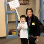 Eun Yoon and son at Steele Elementary School