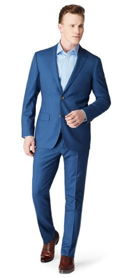 Coalville Mini Check Blue Suit