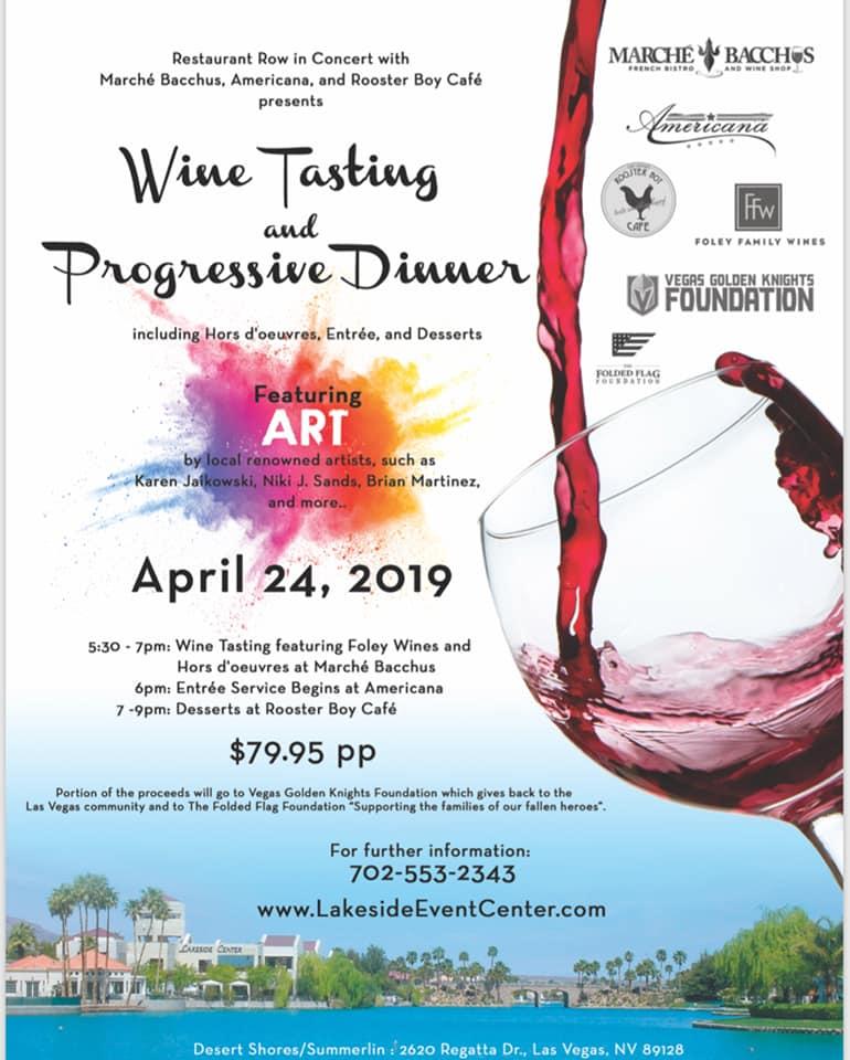 Wine Tasting And Progressive Dinner At Lakeside Event Center Nevada Business Magazine