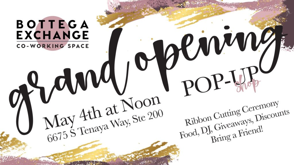 BE grand opening flyer