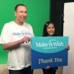 Attorney Adam Kutner with Make-A-Wish recipient Abigail announcing new media campaign  supporting Make-A-Wish Southern Nevada's newly re-imagined Wishmaker® Club.