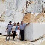 (From left) Jake, Lelia, Katie and Frank Friedlander in Carrara, Italy.