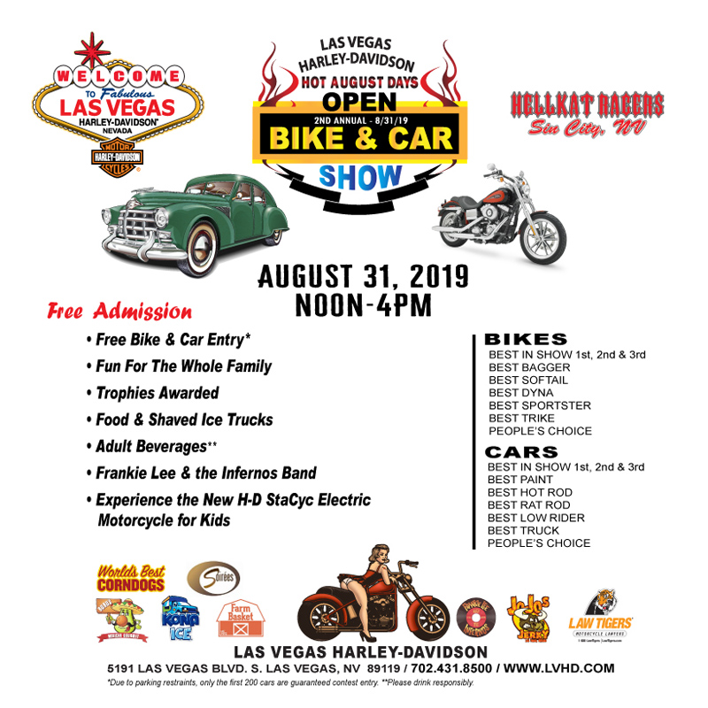 Las Vegas Harley-Davidson Hosts Hot August Days Bike & Car