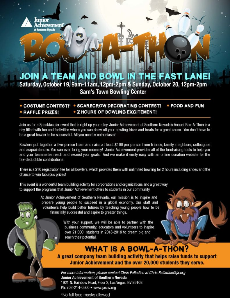 2019 Boo-A-Thon Event Flyer