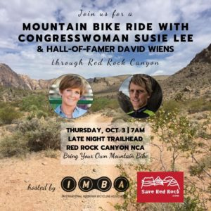 Mtn Bike Ride with Rep. Susie Lee [Flyer]
