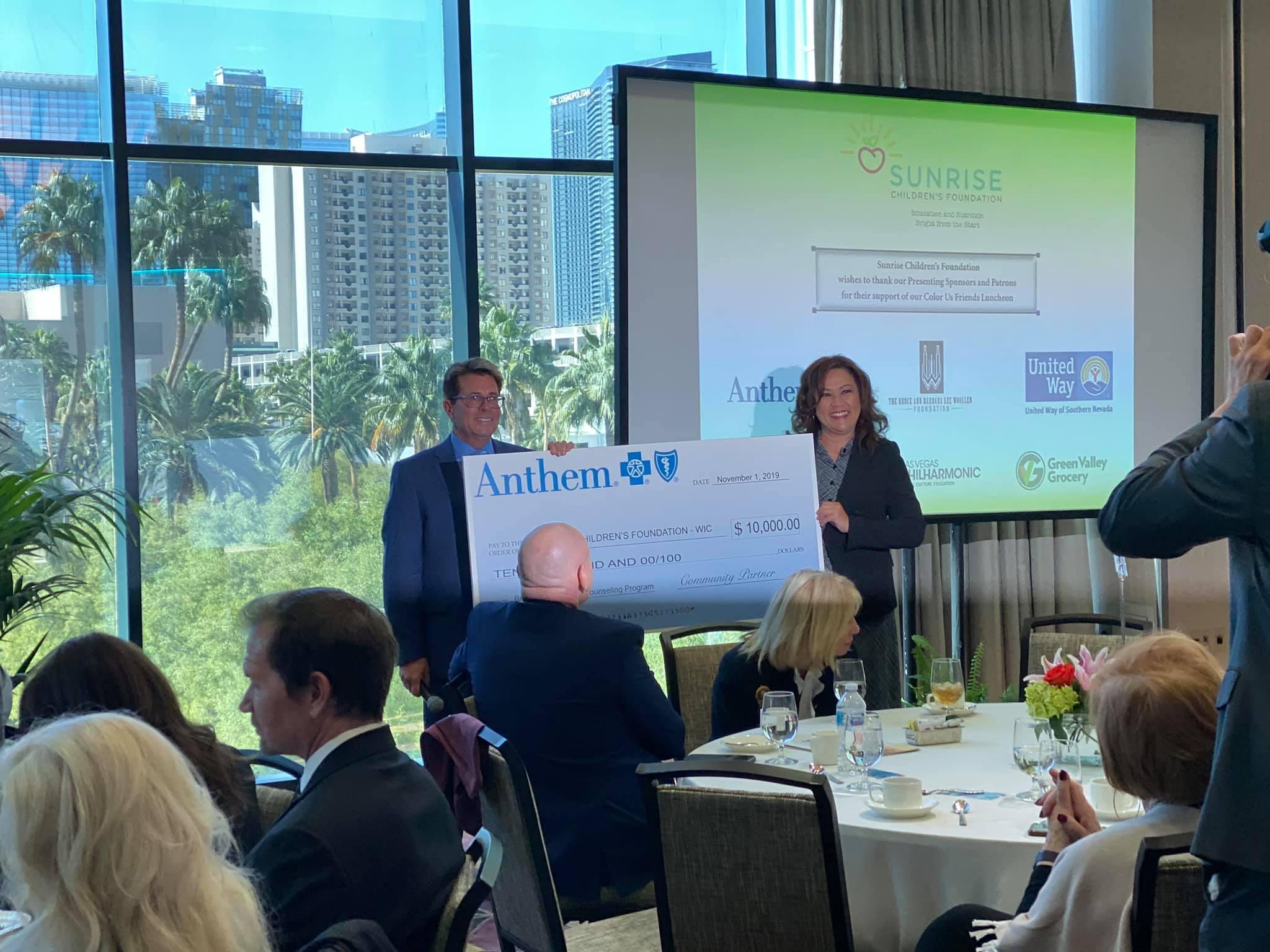 Sunrise Children's Foundation Thanks Community - Receives ...