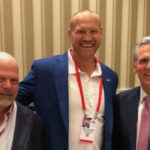 """""""Big Dan"""" Rodimer with Republican House Leader Kevin McCarthy and Pawn Star's star Rick Harrison."""