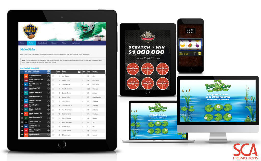 SCA Promotions Digital Gamification Solutions