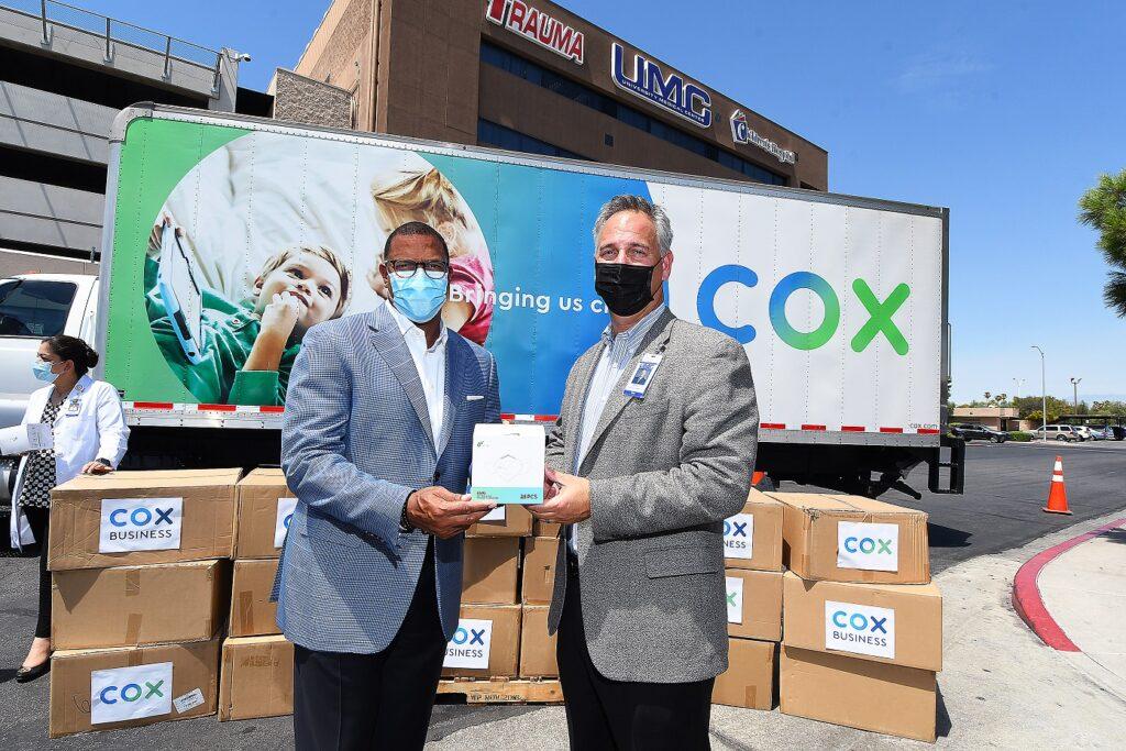 Cox Business VP Derrick Hill and UMC CEO Mason VanHouweling_14august2020_NBM