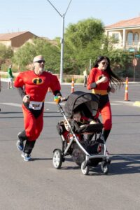 Team Incredibles - parents w 2 in stroller - sm-43ad3b12